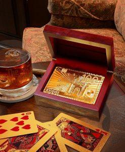 gouden speelkaarten poker